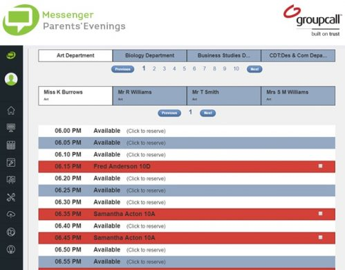 Messenger Parents' Evenings