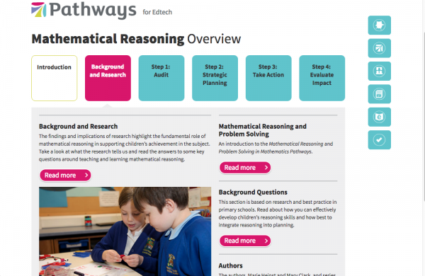 Overview screen for Maths reasoning -