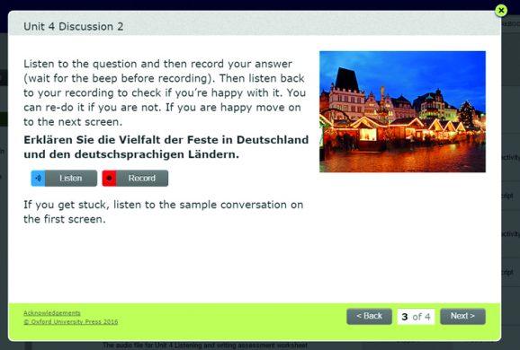 AQA A Level German Assessment screenshot