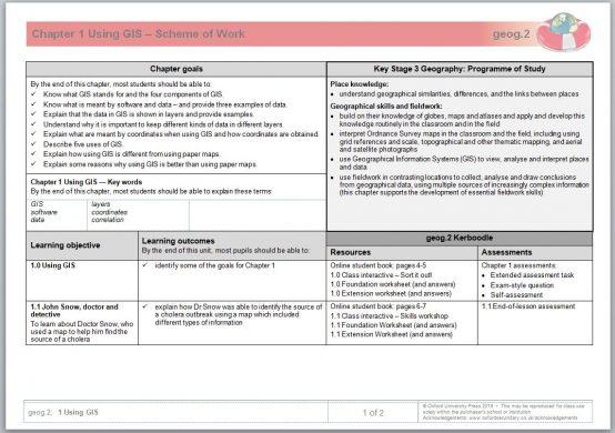 Geog.123 Scheme of Work image