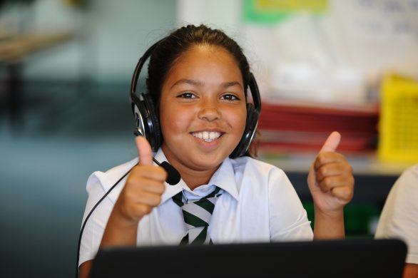 Third Space Learning pupil smiling during session