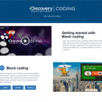Discovery Education Coding - Welcome Screen