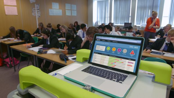 Teacher Portal being uses in a lesson