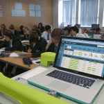 Teacher portal being used in class