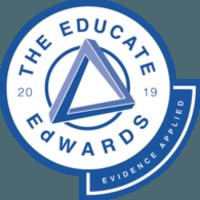 Educate Evidence Applied Edward award 2019 badge