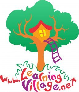 Learning Village logo showing a tree with treehouse and weblink (www.learningvillage.net)