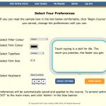 Unique Preference Screen to minimise visual disturbances
