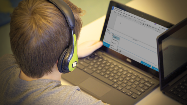 Photo of a student using EquatIO on their laptop