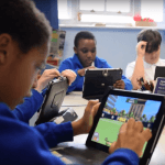 Pupils using Sumdog in class