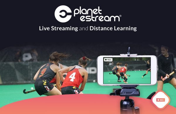 Hockey match being live streamed