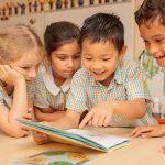 School children reading