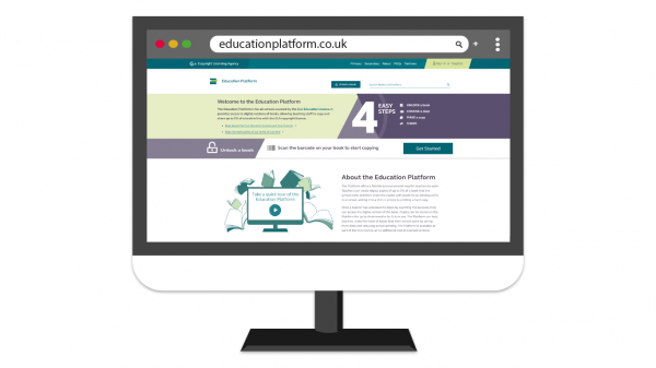 Education Platform home screen view