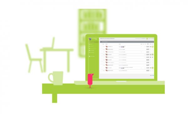 Illustration of Fluency Tutor on a laptop screen