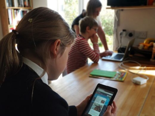 Children using Q-files at home