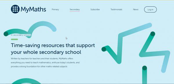 MyMaths.co.uk homepage