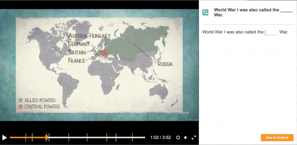 Example Video Content: WW1 with Quiz