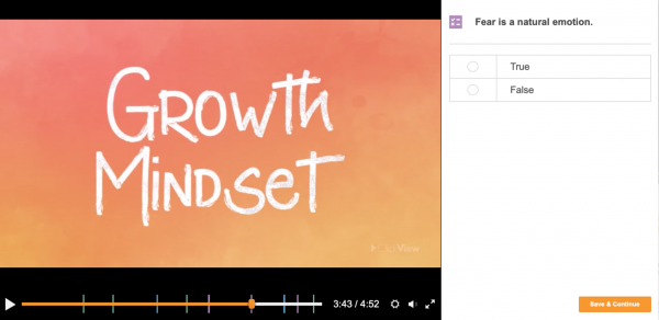 Example Video Content: Growth Mindset with Quiz