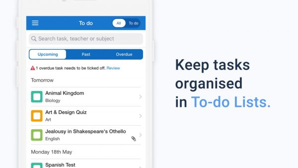 Student To-do Lists on Show My Homework