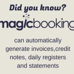 generate invoices, credit notesm daily registers and statements