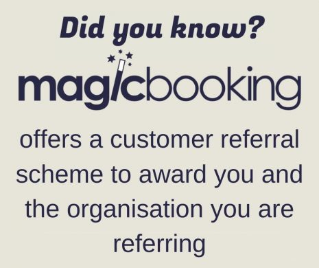 offers a customer referral scheme to award you and the organisation you are referring