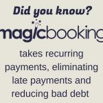 takes recurring payments, eliminating late payments and reducing bad debt