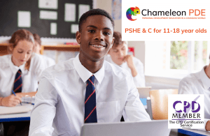 This item is a title image about Chameleon PDE's PSHE & Citizenship programme for 11-18 year olds