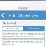 Evidence Me 'add objectives' screen