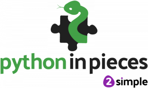 Python in Pieces logo