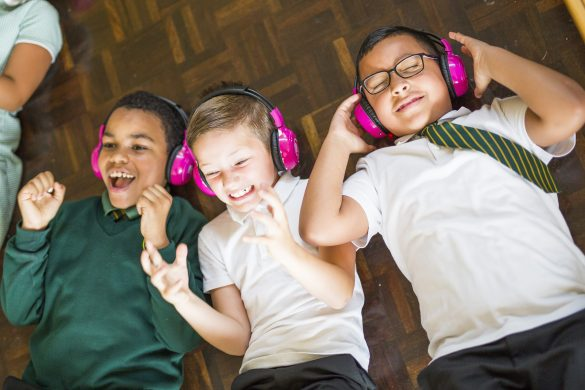 Boys excited to be listening to now>press>play